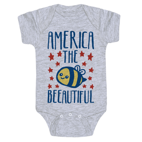 America The Beeautiful Bumble Bee 'Merica Parody Baby Onesy