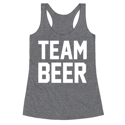 Team Beer Racerback Tank Top