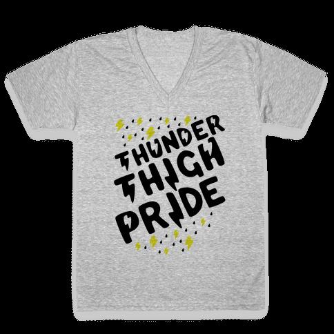 Thunder Thigh Pride V-Neck Tee Shirt