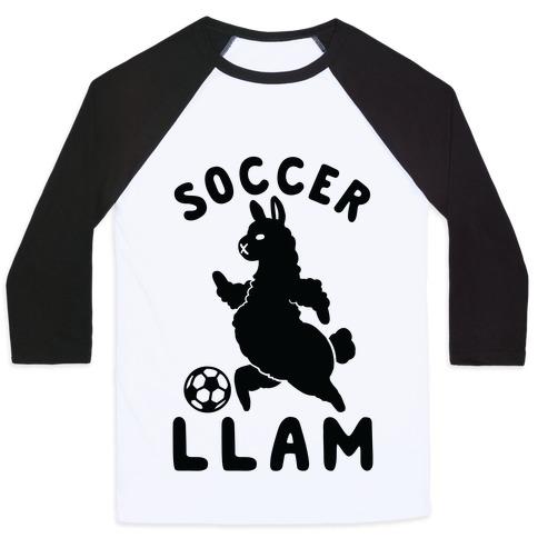 Soccer Llam Baseball Tee