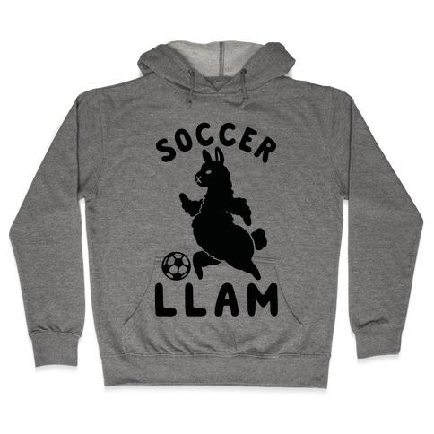Soccer Llam Hooded Sweatshirt