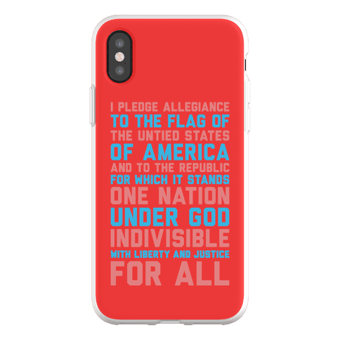 Pledge Of Allegiance Phone Flexi-Case