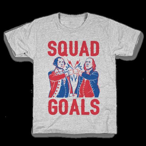 Squad Goals George Washington & Benjamin Franklin (cmyk) Kids T-Shirt