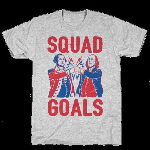 Squad Goals George Washington & Benjamin Franklin (cmyk) Mens T-Shirt