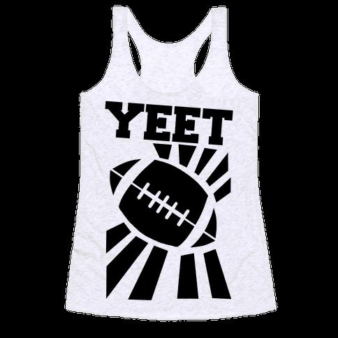 Yeet - Football Racerback Tank Top