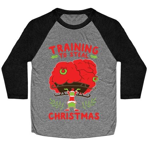 Training to Steal Christmas Baseball Tee
