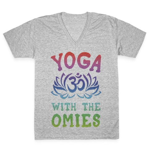 Yoga With The Omies V-Neck Tee Shirt