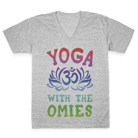 Yoga With The Omies V-Neck Tee Shirt
