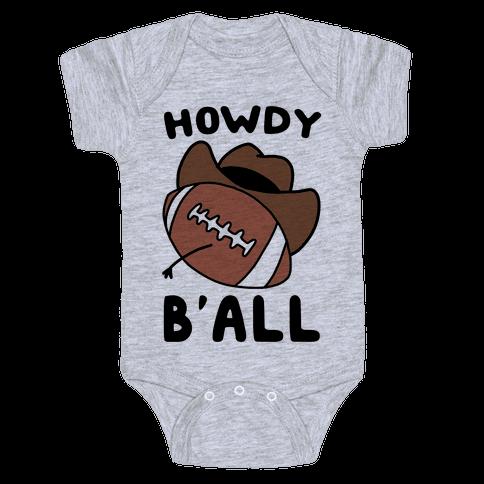 Howdy B'all Baby Onesy