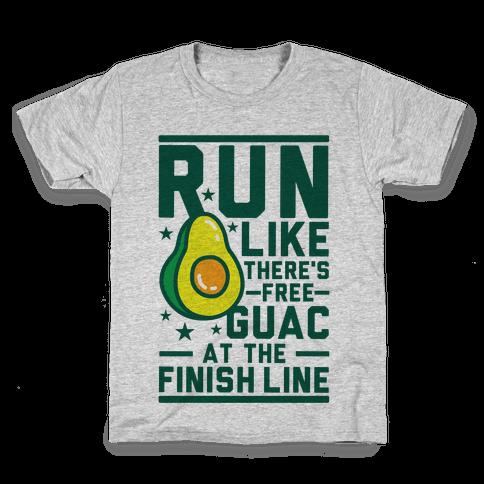 Run Like There's Free Guac Kids T-Shirt