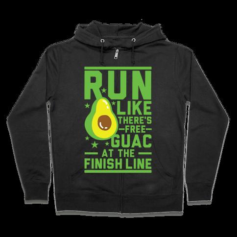 Run Like There's Free Guac Zip Hoodie