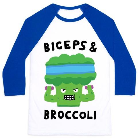 Biceps And Broccoli Baseball Tee