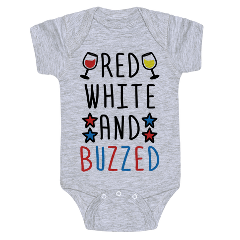 Red, White And Buzzed Baby Onesy