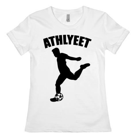 Athlyeet Soccer  Womens T-Shirt