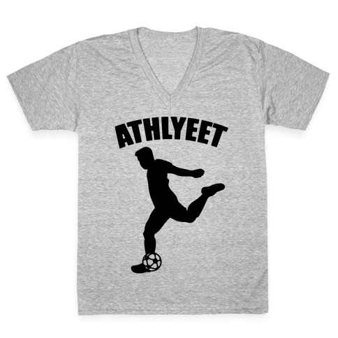 Athlyeet Soccer V-Neck Tee Shirt