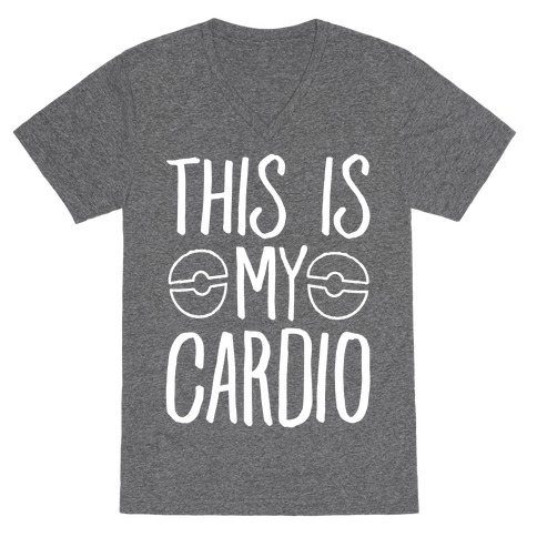 This Is My Cardio V-Neck Tee Shirt