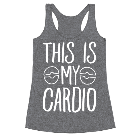 This Is My Cardio Racerback Tank Top