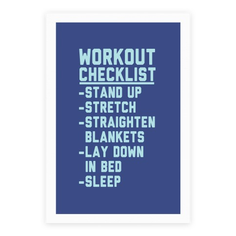 Workout Checklist Poster