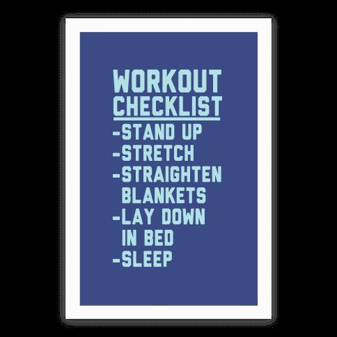 Workout Checklist Poster