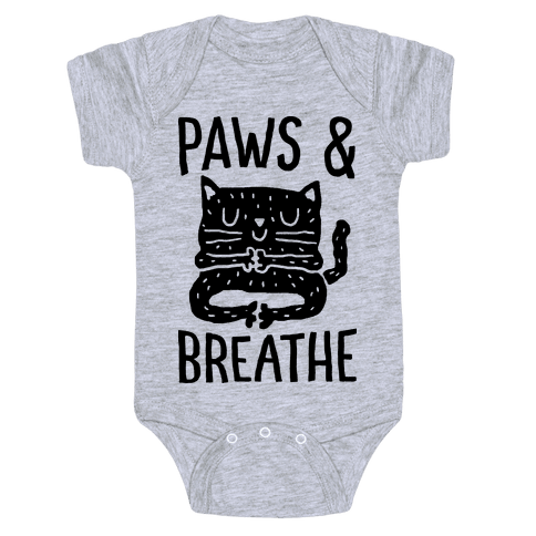 Paws And Breathe Yoga Cat Baby One-Piece