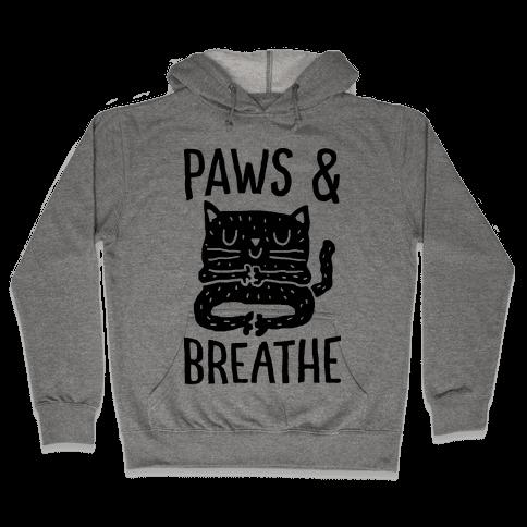 Paws And Breathe Yoga Cat Hooded Sweatshirt