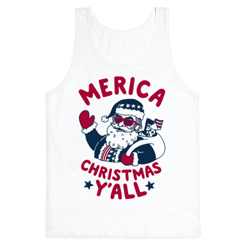 Merica Christmas Y'all Tank Top