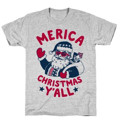 Merica Christmas Y'all T-Shirt