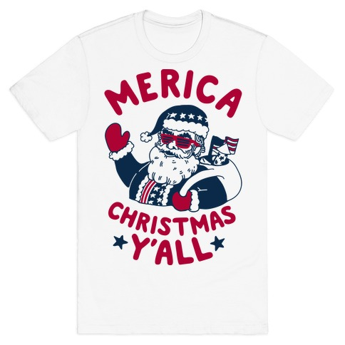 Merica Christmas Y'all T-Shirt