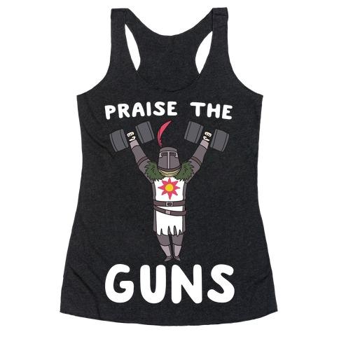 Praise the Guns - Dark Souls Racerback Tank Top