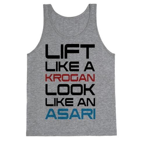 Lift Like A Krogan Look Like An Asari Tank Top