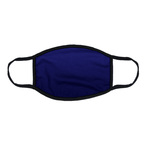 Navy Gradient Flat Face Mask