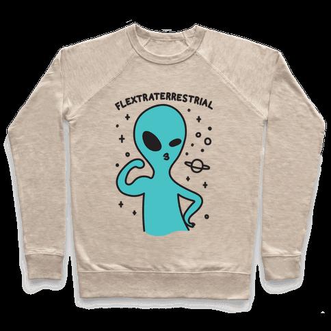 Flextraterrestrial Flexing Alien Pullover