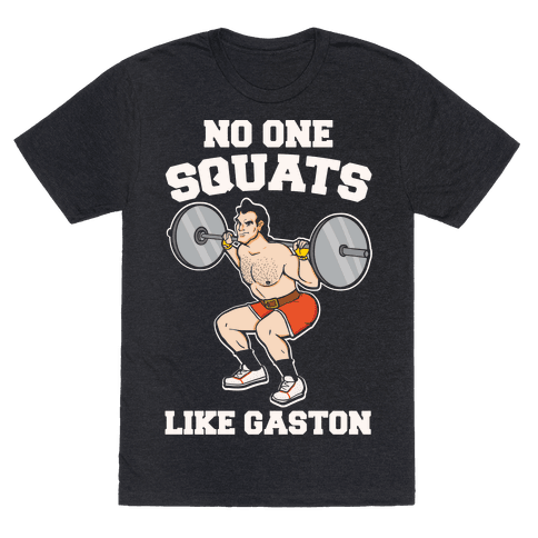 No One Squats Like Gaston Parody White Print