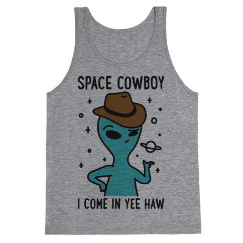 Space Cowboy Alien Tank Top
