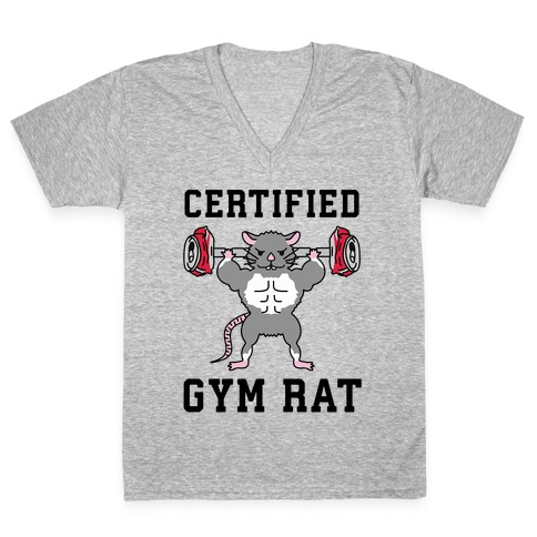 Certified Gym Rat V-Neck Tee Shirt