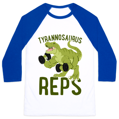 Tyrannosaurus Reps Baseball Tee