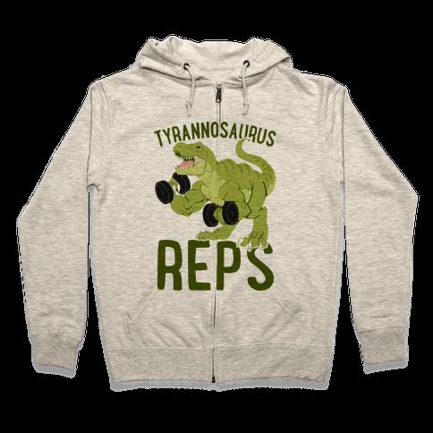 Tyrannosaurus Reps Zip Hoodie