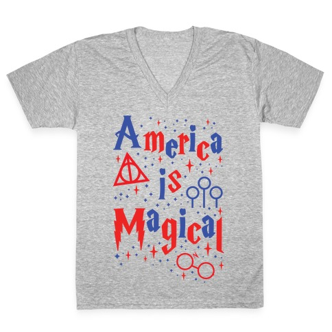 America Is Magical V-Neck Tee Shirt