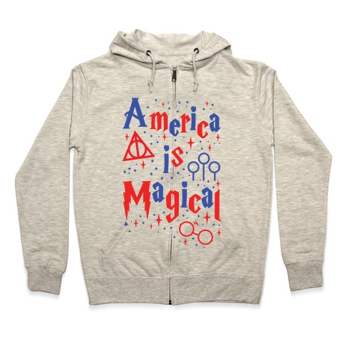 America Is Magical Zip Hoodie