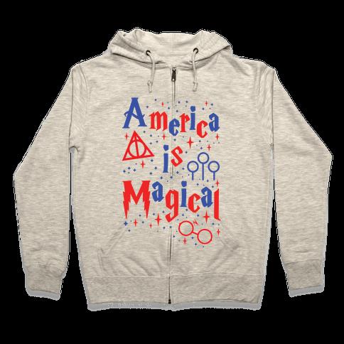 America Is Magical Zip Hoodie