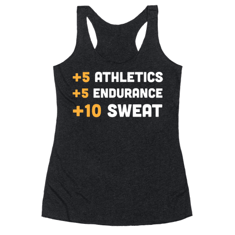 +10 Sweat Racerback Tank Top