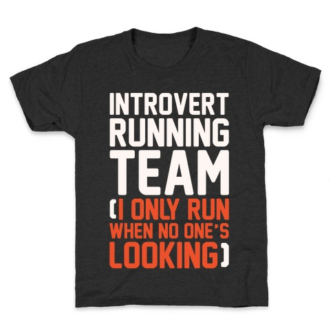 Introvert Running Team White Print Kids T-Shirt