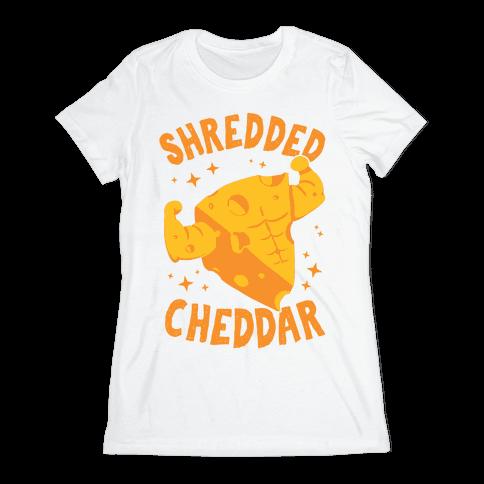 Shredded Cheddar Womens T-Shirt