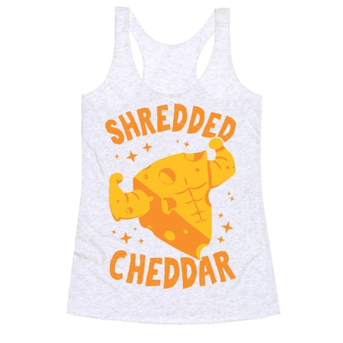Shredded Cheddar Racerback Tank Top