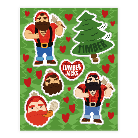 Lumberjack Love Sticker/Decal Sheet