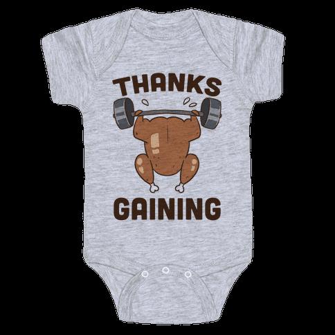Thanksgaining Baby Onesy