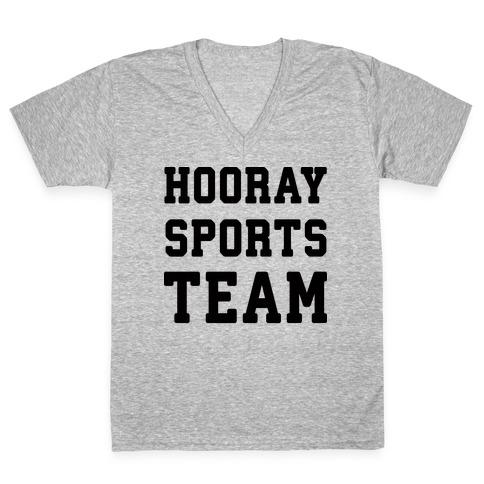 Hooray Sports Team V-Neck Tee Shirt