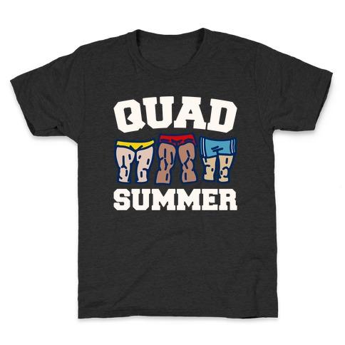 Quad Summer White Print Kids T-Shirt