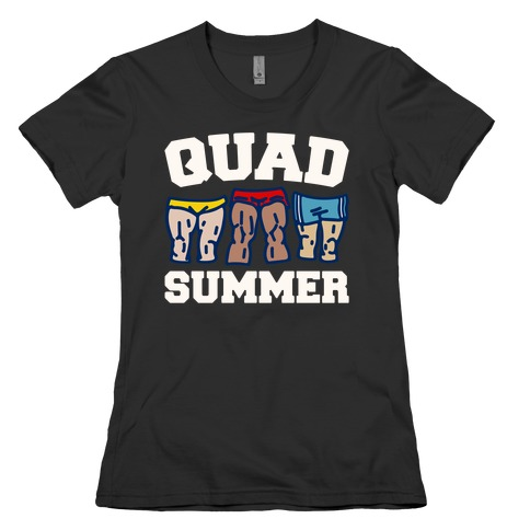 Quad Summer White Print Womens T-Shirt