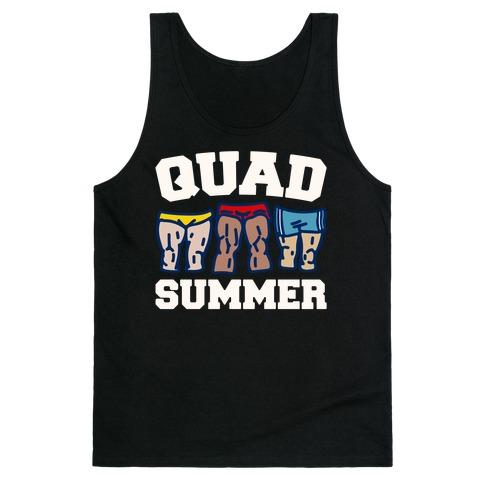 Quad Summer White Print Tank Top